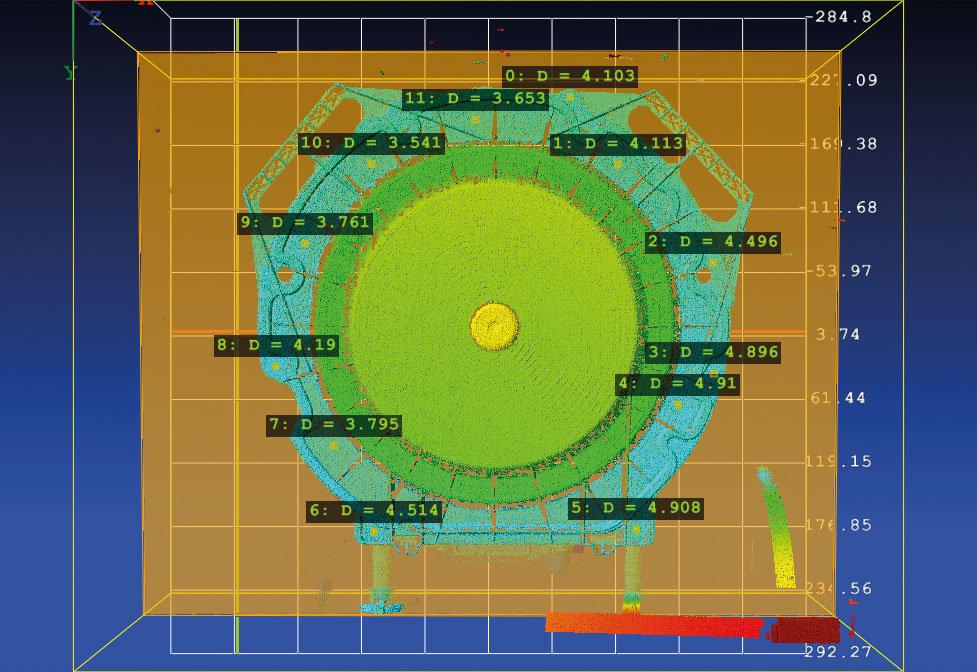 NeuroCheck 3D-Xtension: 3D-Positionsbestimmung eines Dichtungsdeckels (Abbildung © NeuroCheck)