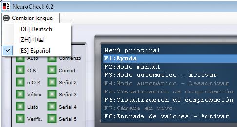 NeuroCheck Software Mehrsprachen Sprachumschaltung in andere Sprachen (Foto © NeuroCheck)