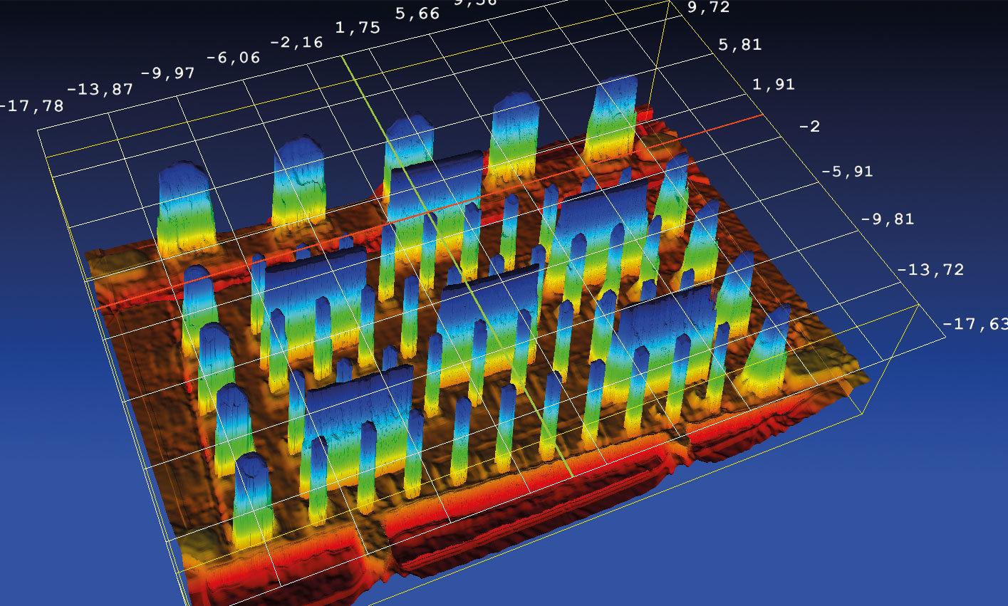 NeuroCheck 3D-Xtension: 3D-Vermessung von Pinsteckern (Abbildung © NeuroCheck)