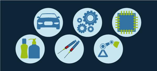 NeuroCheck Prüflösungen für die verschiedensten Branchen (Abbildung © NeuroCheck)