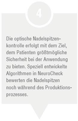 Produktionsschritt: Nadelspitzenkontrolle (Abbildung © NeuroCheck)