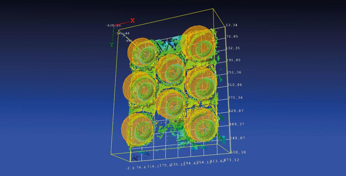 NeuroCheck 3D-Xtension: Pick-and-Place von Gehäusebauteilen (Abbildung © NeuroCheck)