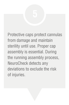Production step: Protective caps control (Image © NeuroCheck)