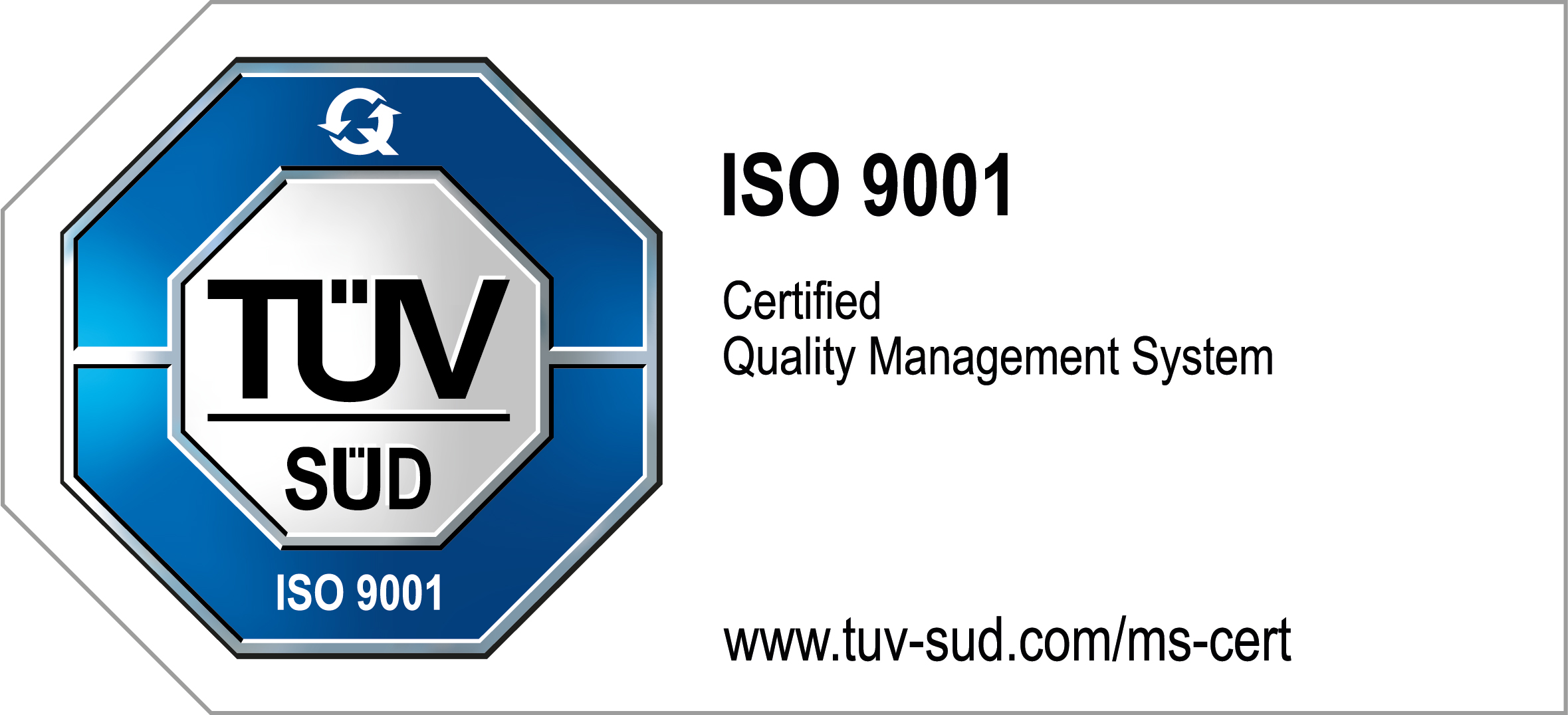NeuroCheck TÜV seal for ISO certification (Image © NeuroCheck)